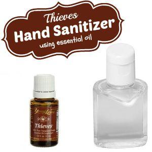 Thieves Hand Sanitizer Recipe Using Essential Oil