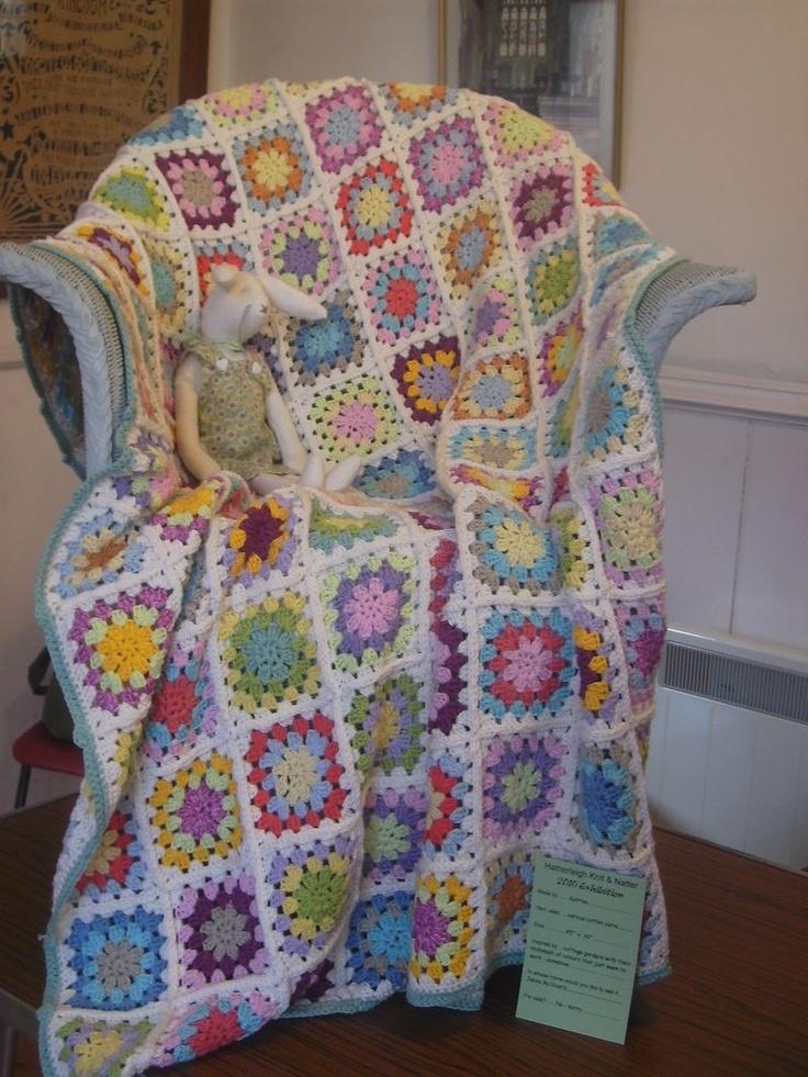 Blanket crochet in soft cotton