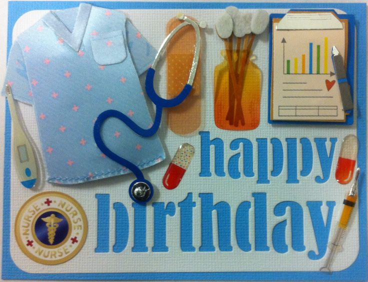 """A special ordered birthday that card I made for a coworker who wanted to give her granddaughter a """"Nurse"""" themed birthday card."""