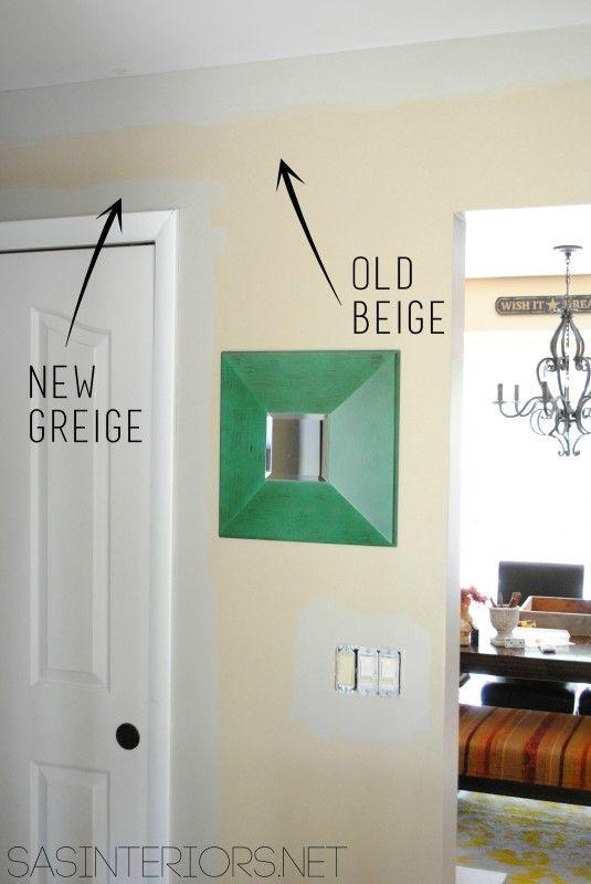 Old Beige New Greige Paint Color Benjamin Moore