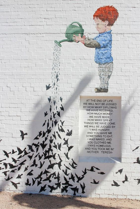 In Roosevelt Row in downtown Phoenix, Arizona lies a bustling art district with street art installations around every corner.