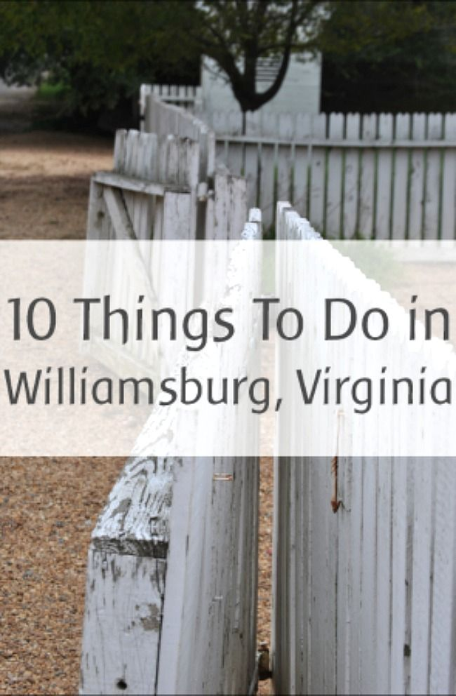10 Things to Do with Kids in Williamsburg, VA - Kids Activities Blog