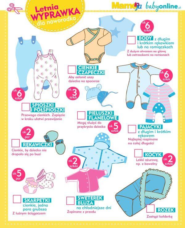 W co ubrać dziecko, które urodzi się latem + ściąga do wydruku
