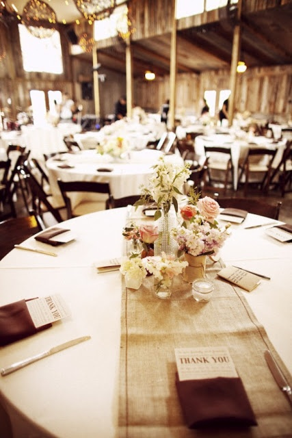 Rustic reception round table runner collection of