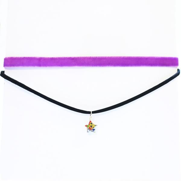 Origami Star Thin Choker Necklace