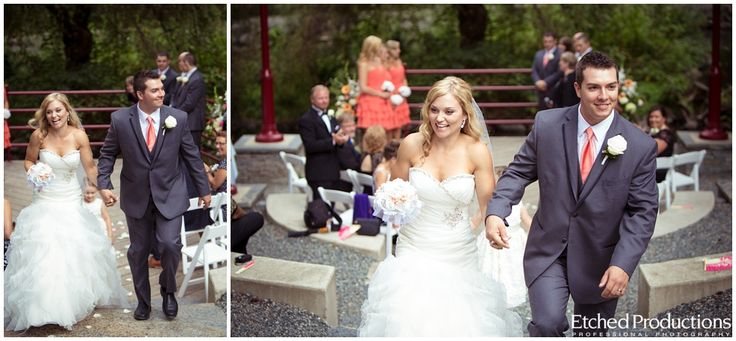 Bowen Park Amphitheatre Wedding Ceremony - Mike and Ashlee. Photographed by Chuck Hocker of Etched Productions.