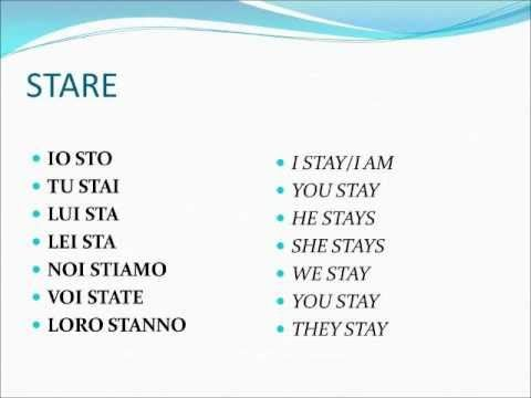 Verbi Italiani Irregolari 2.wmv - Learn Italian