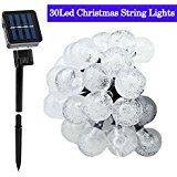 Solar String Lights20ft 30 LED Outdoor Fairy Light White Crystal Ball Christmas Globe Lights for Garden Decoration... christmas deals week