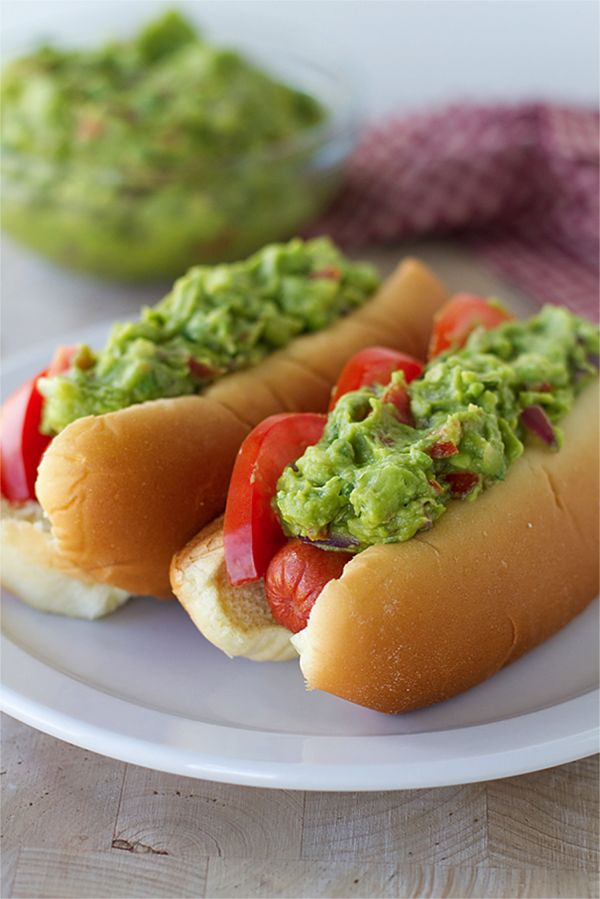 grilled guacamole hot dogs avocados from mexico blog taste and tell shameless self. Black Bedroom Furniture Sets. Home Design Ideas