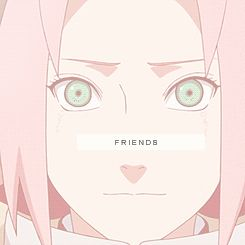 Naruto Friends gif. I just wonder why Naruto isn't with them in this gif??