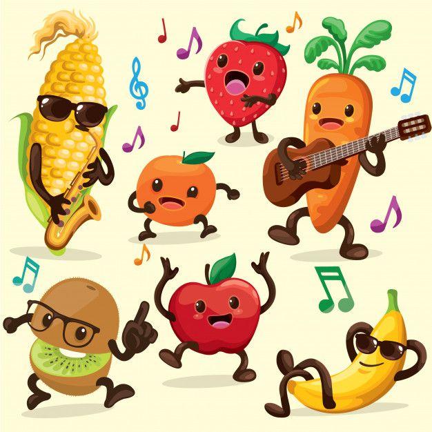 Cute Fruits Background Vegetable Cartoon Cute Fruit Character Design