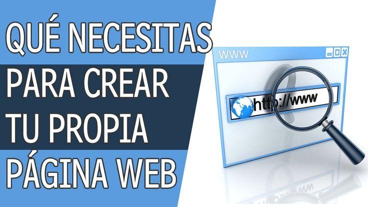 Que Necesitas Tener Para Crear Una Pagina Web? #diseñoweb #webdesign #webdesigner