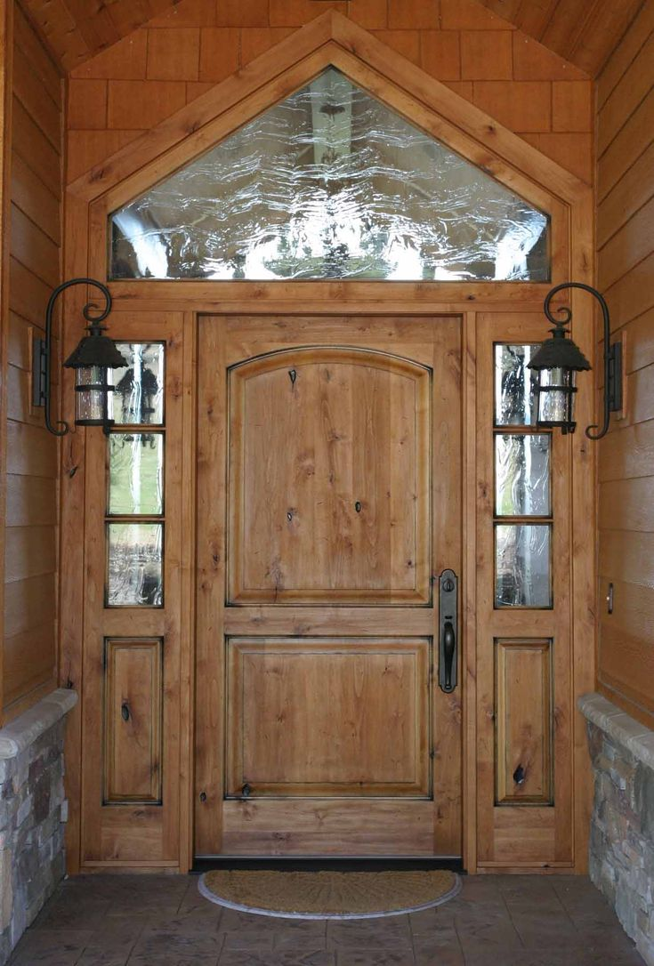 Superb Looks Beautiful Exterior. Elegant Arts And Crafts Entry Door Style With  Sidelites And Transom Design And Antique Outdoor Wall Sconces Ideas.