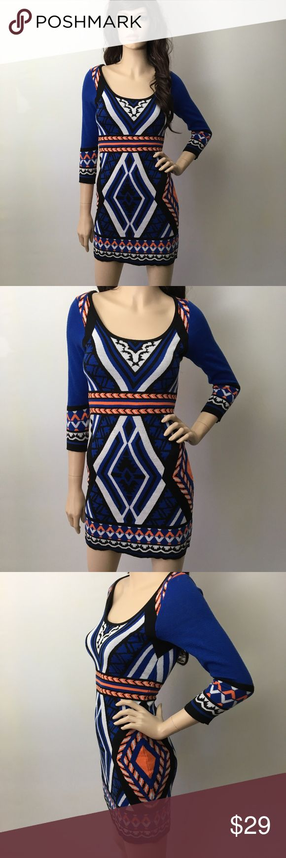Bohemian Aztec Bodycon Sweater Dress   This is gorgeous! Soft tight knit polyester. Firm fitting body con style. Great condition.  Flying Tomato Dresses