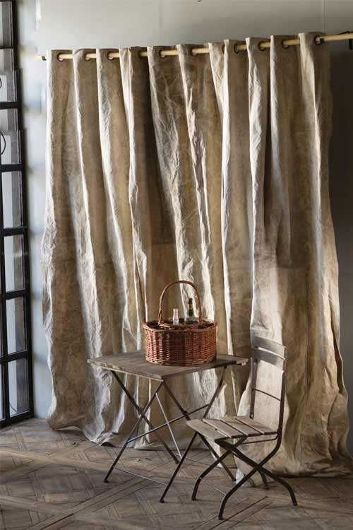 use canvas drop clothRandom Seam, Canvas Drapes, Burlap Panels, Burlap Drapery, Burlap Curtains, Vagabond Vintage, Canvases, Fatigue Canvas, Drapery Panels