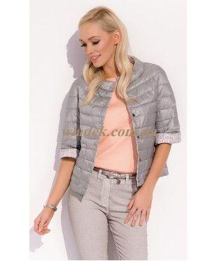 Женская весенняя куртка Zaps Trina 022 цвета капучино из коллекции Zaps
