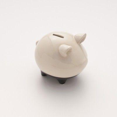 Blackline Stoneware Piggy Bank