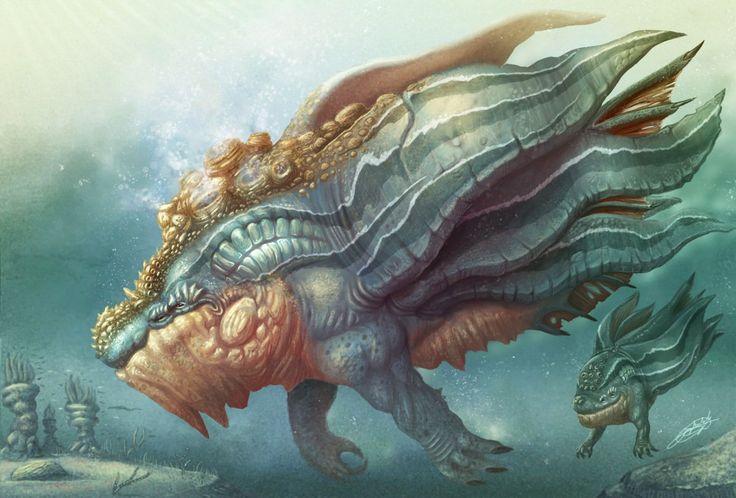 Giant sea monsters art - photo#39