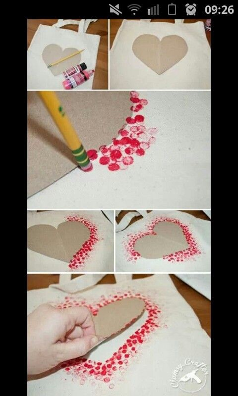 Pencil rubber stencil stamp...happy valentines day!