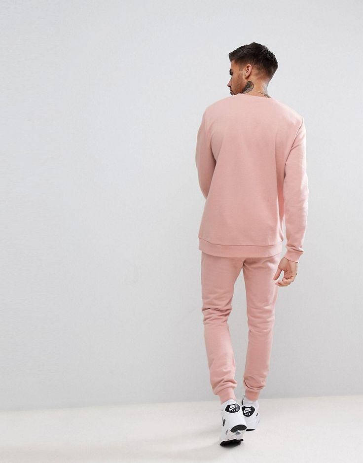 ASOS Tracksuit Sweatshirt/Super Skinny Jogger In Pink - Pink