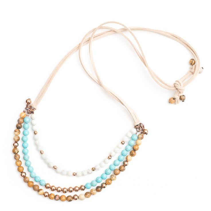 xada jewellery - Sorrento tribal beaded necklace on suede, $69.95 (http://www.xadajewellery.com/shop-by-collection/xada-sorrento-tribal-beaded-necklace-on-suede/)