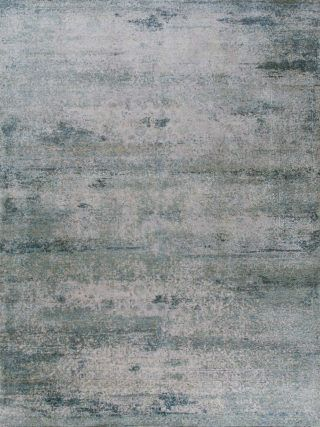 Kork Reintegration - Grey and Blue | - Bazaar Velvet and Thibault Van Renne. These extraordinary transitional rugs are outstanding in their beauty; with an unrivalled complexity of pattern and colour, in a legendary quality.  Luxury modern rugs London