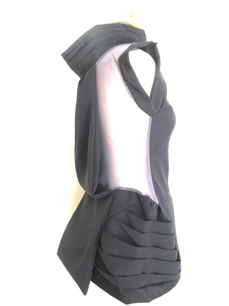 short black see through dress (b)