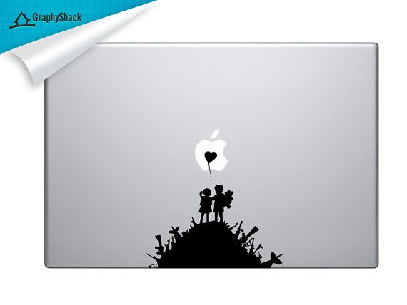 Banksy Kids on the Hill  Mac Decal Vinyl Laptop by DecalShark