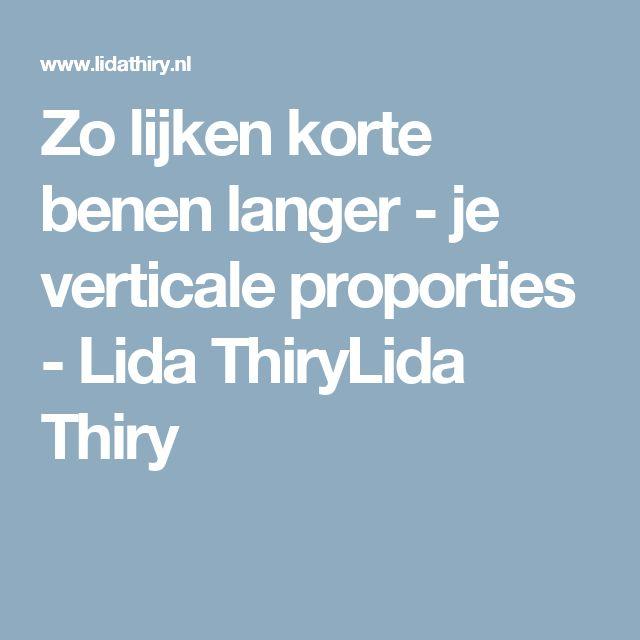 Zo lijken korte benen langer - je verticale proporties - Lida ThiryLida Thiry
