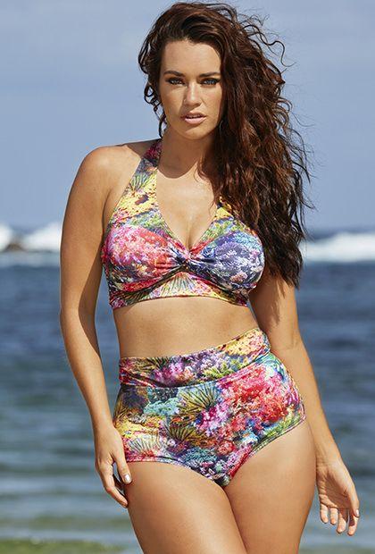 Laura Wells Coral Reef Halter Bikini