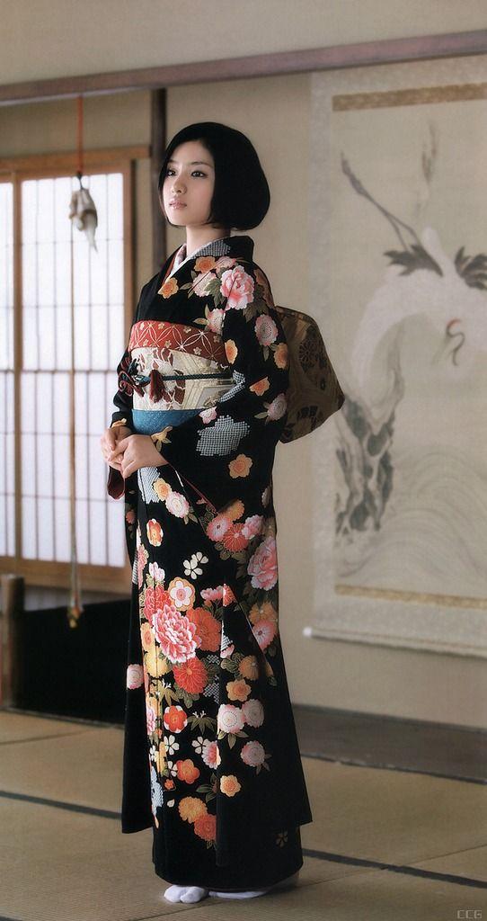 thekimonogallery | Satomi Ishihara in kimono