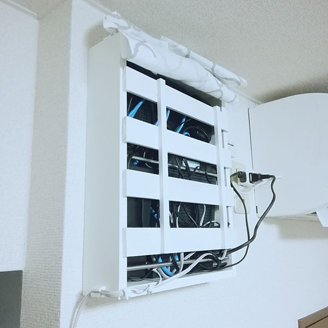 壁 天井 ルーター収納 ルーター隠し ルーター隠しdiy ルーター収納完成