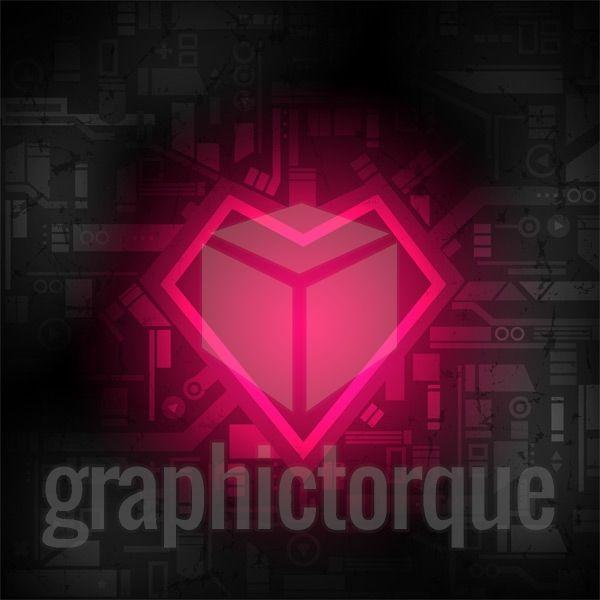 Glowing Tech Heart