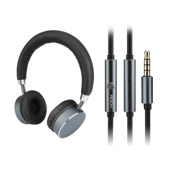 Wallmart.win ROCK RAU0512 Universal Stereo Wired Control Headset Headphone with Mic for Tablet Mobile Phone: Vendor:…