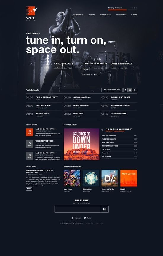 9 Best Music Web Design Images On Pinterest