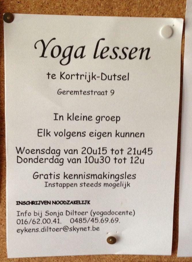 Yoga Kortrijk Dutsel