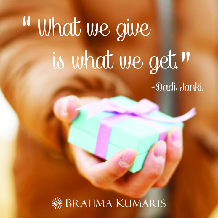 What we give is what we get