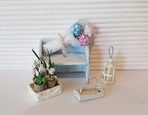 Half Scale Miniature Flowers 1:48 scale Bouquet Hydrangea