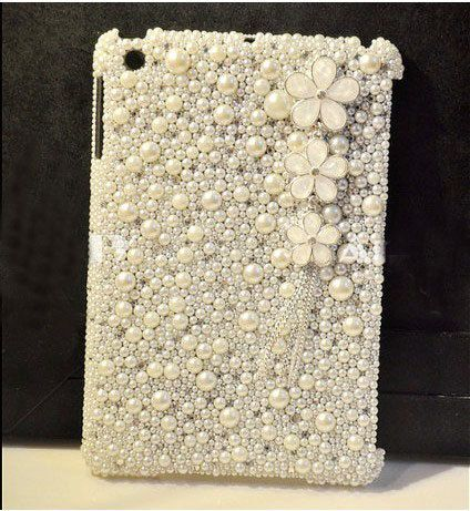 luxury ipad mini case bling ipad 4 case pearl by Luxuryphonecase88, $45.00