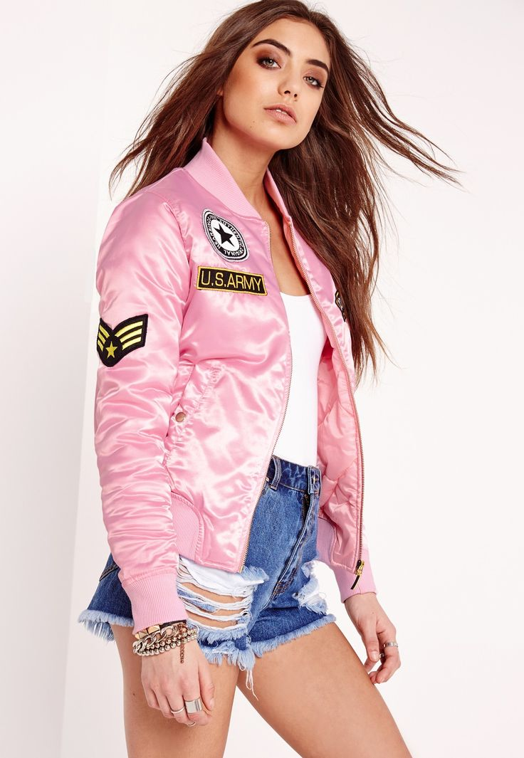 missguided bomber rembourr rose avec cussons
