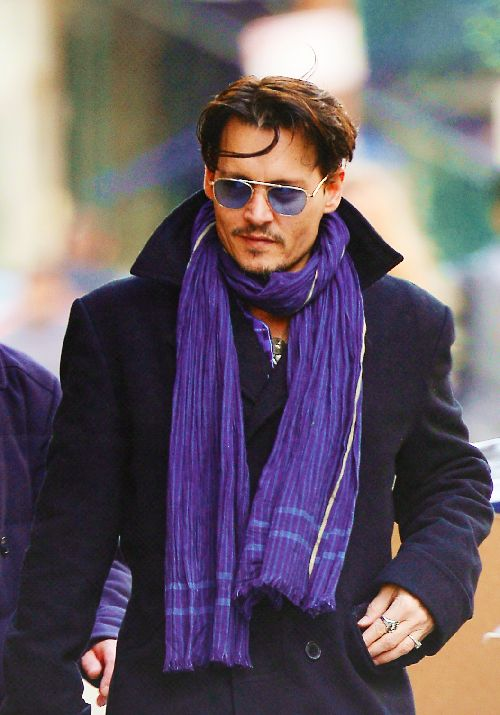 Johnny Depp in Manhattan, New York on Thursday, March 20th, 2014