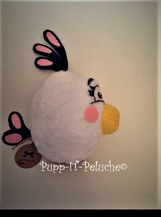 """Peluche ispirato al personaggio """"MATILDE"""" del cartone animato """"ANGRY BIRDS 2"""" di PUPPitPELUCHE su Etsy"""