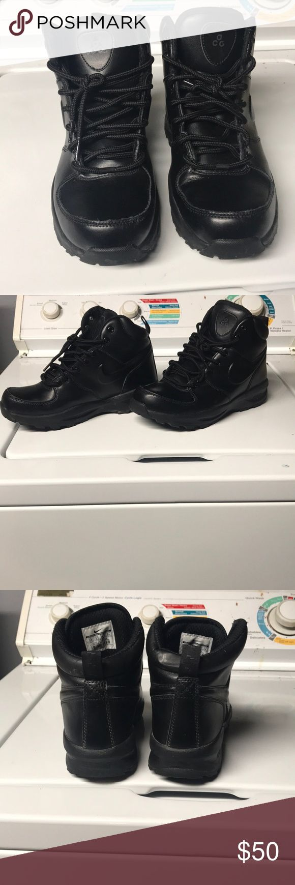 Black Nike ACG Boots LIKE NEW. Size 6 in big kids, equivalent to a women's size 8. Use offer button to negotiate! Nike Shoes