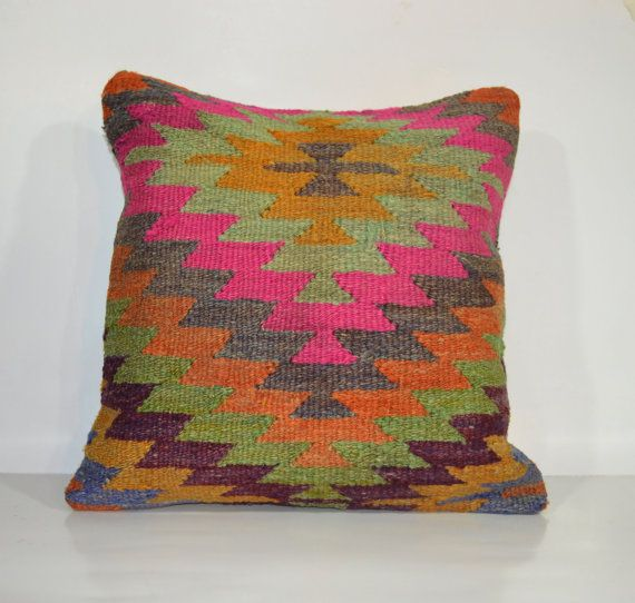 Hey, I found this really awesome Etsy listing at https://www.etsy.com/listing/176620994/pink-yellow-zig-zag-kilim-pillow-ethnic