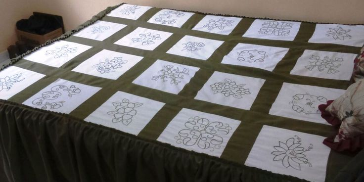 Desenhos de tulipas para patchwork chair
