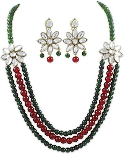 Dazzling Indian Bollywood Red & Green Pearls Kundan Wedding Wear Necklace Jewelry Set Ddivaa, http://www.amazon.com/dp/B01N804H7G/ref=cm_sw_r_pi_dp_x_wFIuzbB88ZPBN