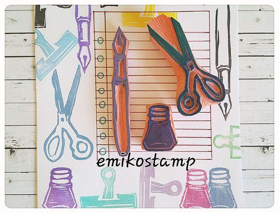 SALE Scissors rubber stampVintage sewing scissorshand