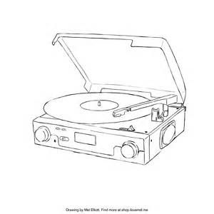 Image Result For Record Player Sketch Tattoos