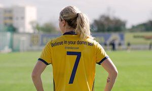 Swedish women's team replace shirt names with messages of empowerment | Football | The Guardian