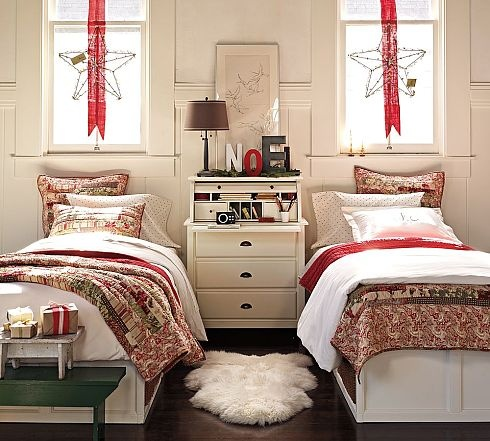 christmas decorations for bedroom